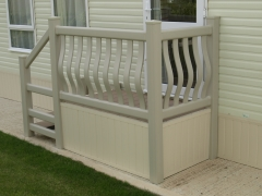 Solid upvc plastic skirting vented instillation caravan holiday home park lodge cladding soffit hollow