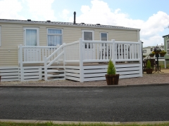 Caravan and deck UPVC white ranch skirting