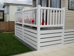 Ranch Upvc plastic skirting for caravans holiday home and lodges