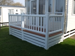 UPVC white ranch skirting caravan holiday home plastic that will not rot