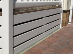 White upvc skirting ranch style caravan deck lodge park home holiday garden domestic cladding