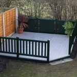 Square garden deck with chamfered corner
