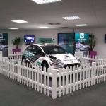 Swift Rally car Fensys picket fence